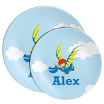 Flying a Dragon Melamine Plate (Personalized)