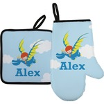 Flying a Dragon Oven Mitt & Pot Holder (Personalized)