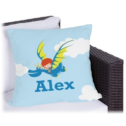 Flying a Dragon Outdoor Pillow (Personalized)