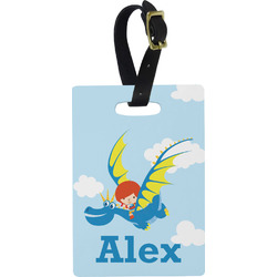 Flying a Dragon Rectangular Luggage Tag (Personalized)