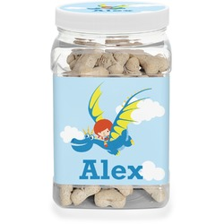 Flying a Dragon Pet Treat Jar (Personalized)