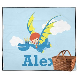 Flying a Dragon Outdoor Picnic Blanket (Personalized)