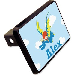 """Flying a Dragon Rectangular Trailer Hitch Cover - 2"""" (Personalized)"""
