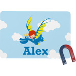 Flying a Dragon Rectangular Fridge Magnet (Personalized)