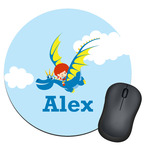 Flying a Dragon Round Mouse Pad (Personalized)