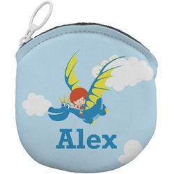 Flying a Dragon Round Coin Purse (Personalized)