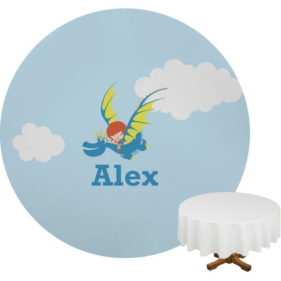 Flying a Dragon Round Tablecloth (Personalized)