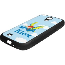 Flying a Dragon Rubber Samsung Galaxy 4 Phone Case (Personalized)