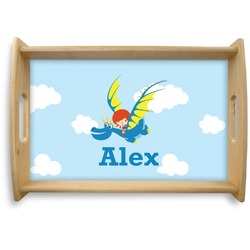 Flying a Dragon Natural Wooden Tray (Personalized)