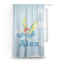 Flying a Dragon Sheer Curtains (Personalized)