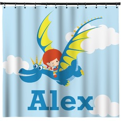 Flying a Dragon Shower Curtain (Personalized)