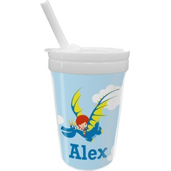 Flying a Dragon Sippy Cup with Straw (Personalized)