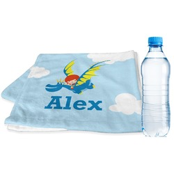 Flying a Dragon Sports Towel (Personalized)