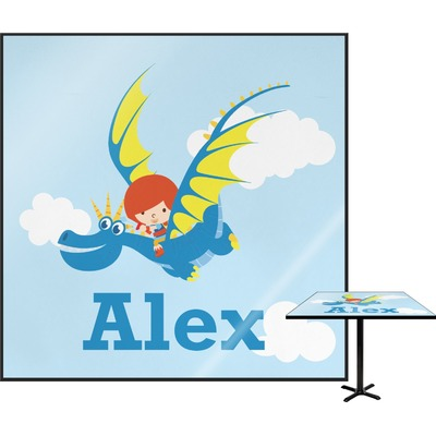 Flying a Dragon Square Table Top (Personalized)