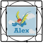 Flying a Dragon Square Trivet (Personalized)