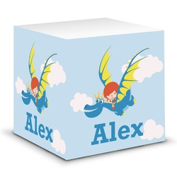 Flying a Dragon Sticky Note Cube (Personalized)