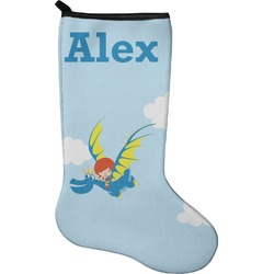 Flying a Dragon Christmas Stocking - Neoprene (Personalized)