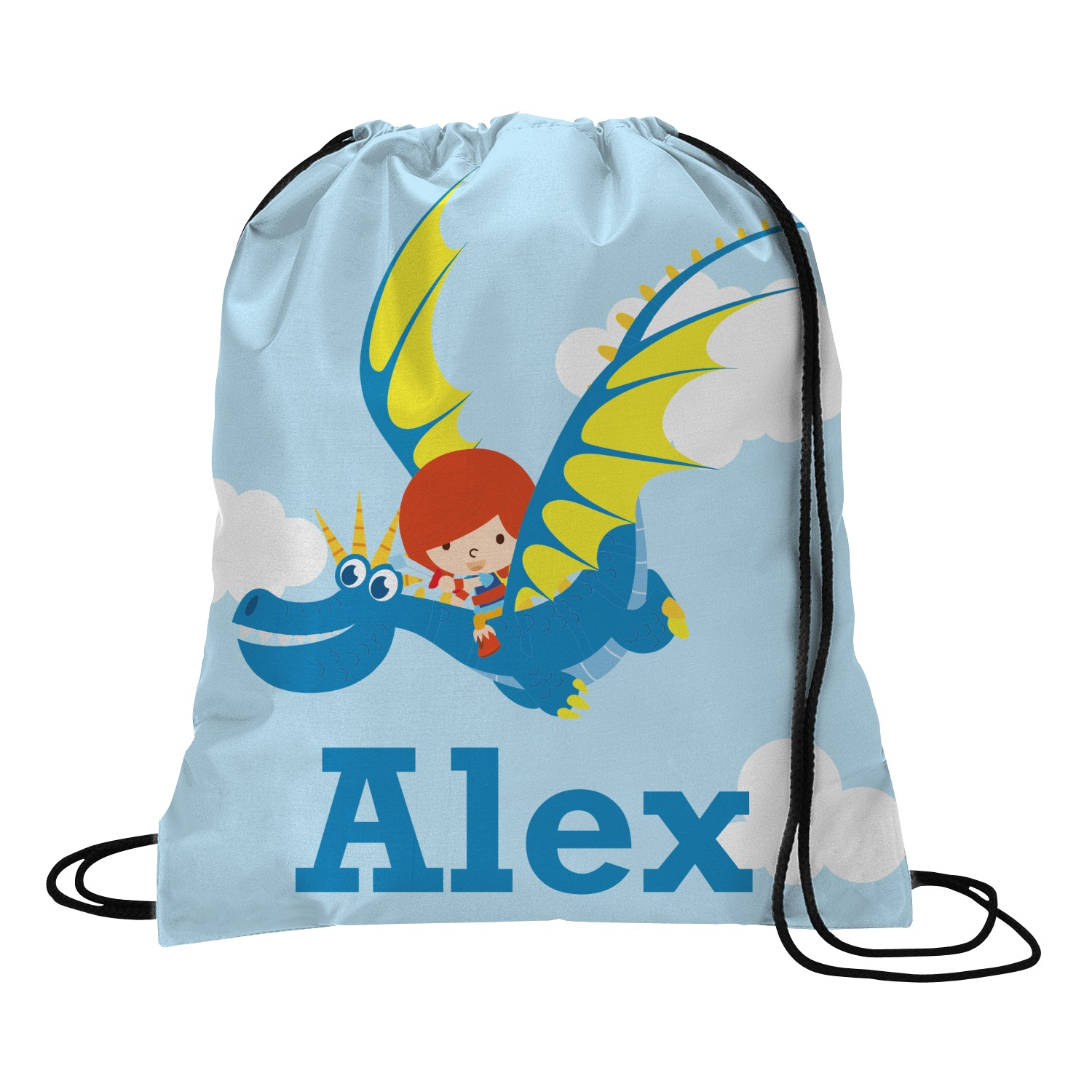 Flying A Dragon Drawstring Backpack Small Personalized