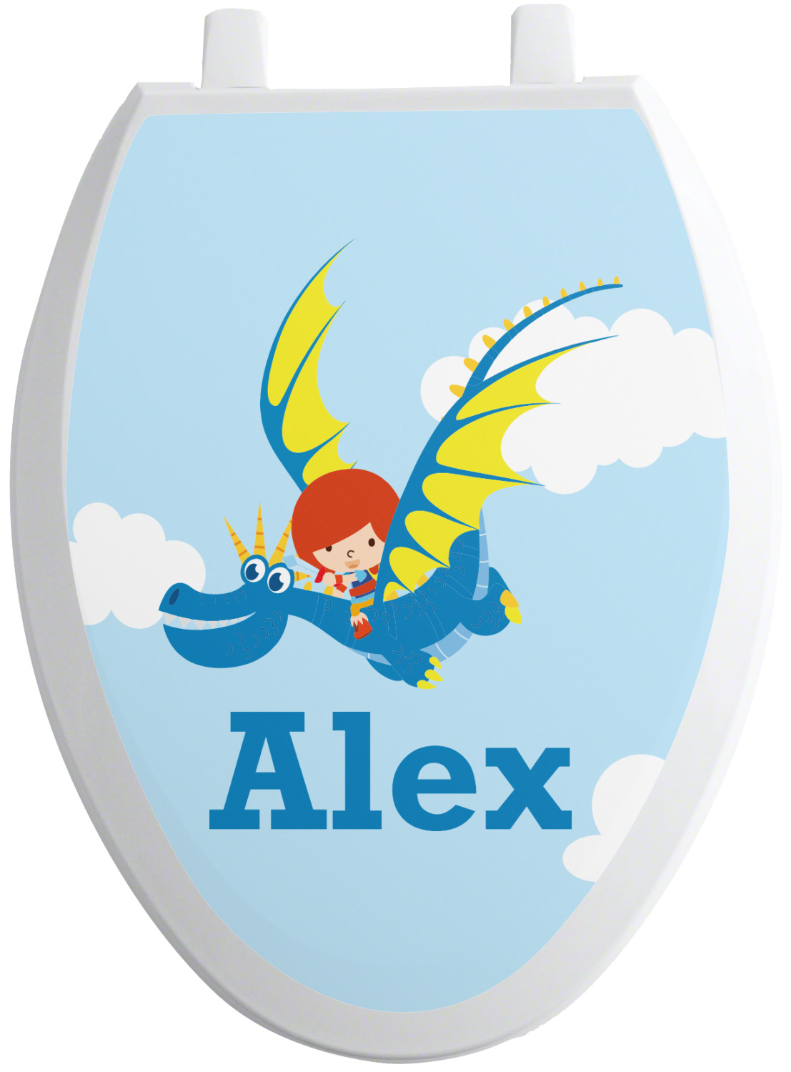 Flying A Dragon Toilet Seat Decal Personalized