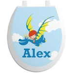 Flying a Dragon Toilet Seat Decal (Personalized)