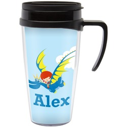 Flying a Dragon Travel Mug with Handle (Personalized)