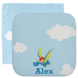 Flying a Dragon Facecloth / Wash Cloth (Personalized)