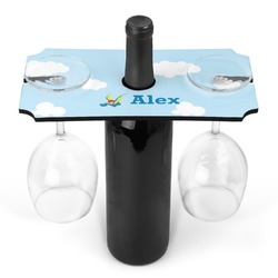 Flying a Dragon Wine Bottle & Glass Holder (Personalized)