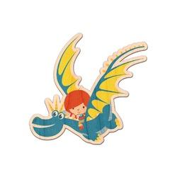Flying a Dragon Genuine Wood Sticker (Personalized)