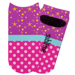 Sparkle & Dots Adult Ankle Socks (Personalized)