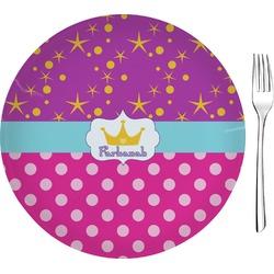 Sparkle & Dots Glass Appetizer / Dessert Plates 8