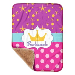 "Sparkle & Dots Sherpa Baby Blanket 30"" x 40"" (Personalized)"