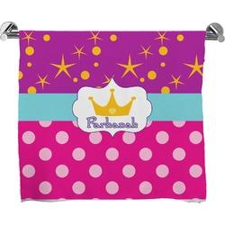Sparkle & Dots Full Print Bath Towel (Personalized)