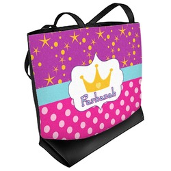 Sparkle & Dots Beach Tote Bag (Personalized)