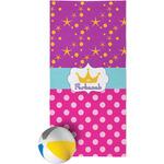 Sparkle & Dots Beach Towel (Personalized)