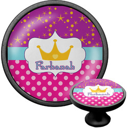 Sparkle & Dots Cabinet Knob (Black) (Personalized)