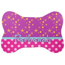Sparkle & Dots Bone Shaped Dog Food Mat (Personalized)