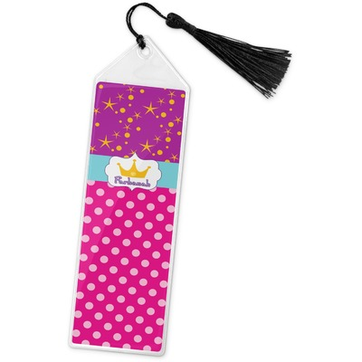 Sparkle & Dots Book Mark w/Tassel (Personalized)