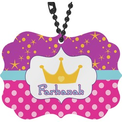 Sparkle & Dots Rear View Mirror Charm (Personalized)