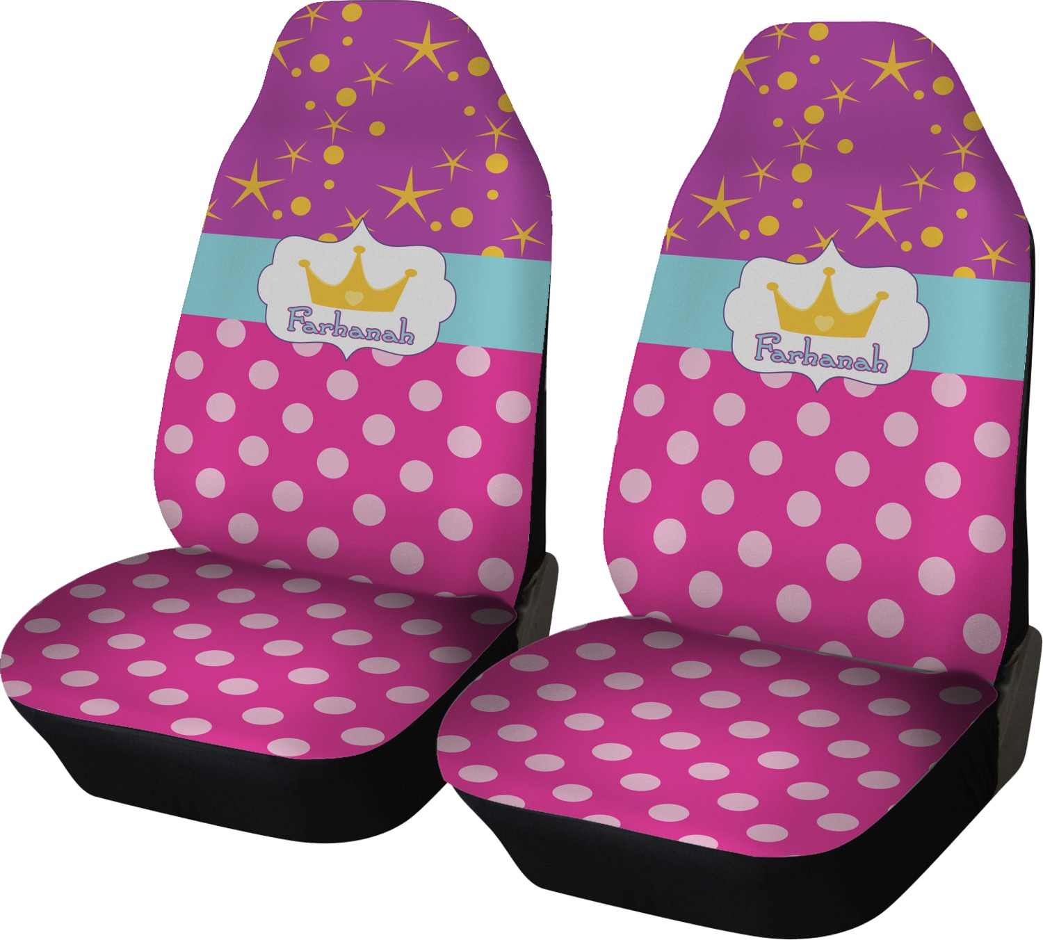 Tremendous Sparkle Dots Car Seat Covers Set Of Two Personalized Uwap Interior Chair Design Uwaporg