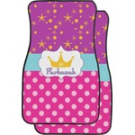Sparkle & Dots Car Floor Mats (Front Seat) (Personalized)