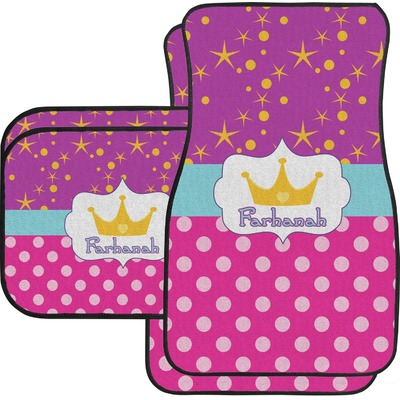 Sparkle & Dots Car Floor Mats Set - 2 Front & 2 Back (Personalized)