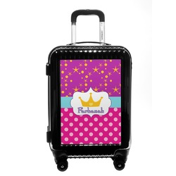 Sparkle & Dots Carry On Hard Shell Suitcase (Personalized)