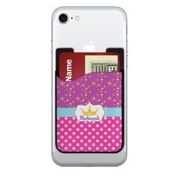 Sparkle & Dots Cell Phone Credit Card Holder (Personalized)