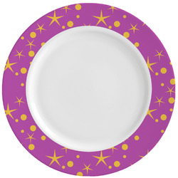 Sparkle & Dots Ceramic Dinner Plates (Set of 4) (Personalized)