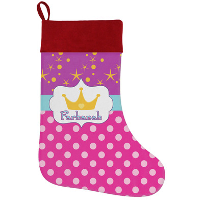 Sparkle & Dots Holiday Stocking w/ Name or Text