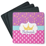 Sparkle & Dots 4 Square Coasters - Rubber Backed (Personalized)