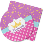 Sparkle & Dots Rubber Backed Coaster (Personalized)