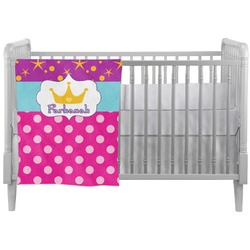 Sparkle & Dots Crib Comforter / Quilt (Personalized)