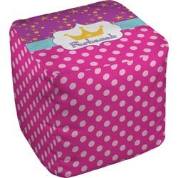 Sparkle & Dots Cube Pouf Ottoman (Personalized)