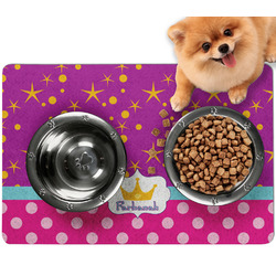 Sparkle & Dots Dog Food Mat - Small w/ Name or Text